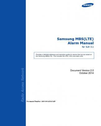 Samsung Mbs (lte) Alarm Manual For Slr 3.1_v2.0