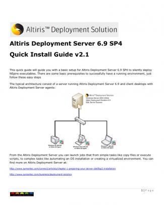 Altiris Ds Quick Install Guide V2.1
