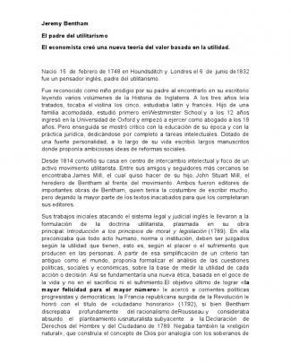 Jeremy Bentham Informe