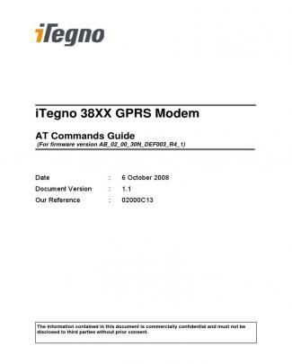 Modem Usb Gprs Data Sheet Itegno