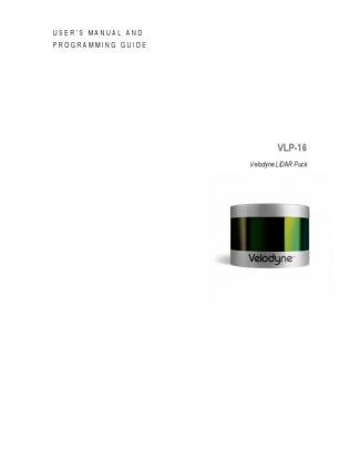 63-9243 Rev B User Manual And Programming Guide,vlp-16