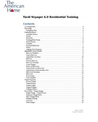 American Home Yardi Voyager Training Guide_2