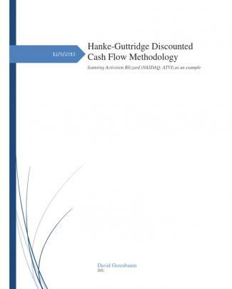 Hanke-guttridge Dcf Methodology