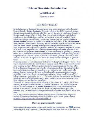 Hebrew Gematria