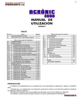 Manual Agronic 4000
