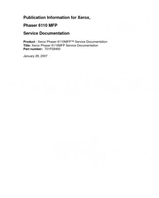 Phaser 6110 Mfp Service Manual