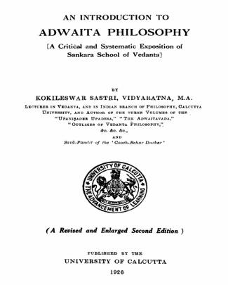 An Introduction To Adwaita By K.sastry
