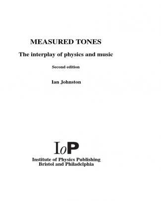 Measured Tones 3rd Edition - Ian Johnston