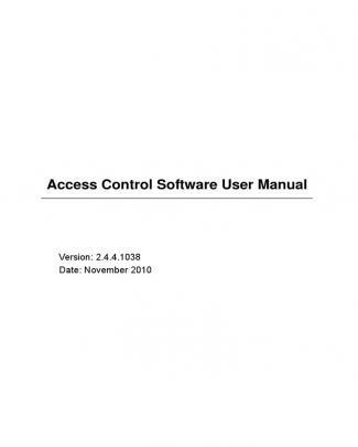 Access Control Software User Manual V2.4.4.1038