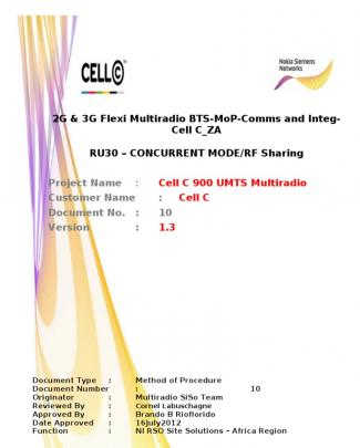 2g & 3g_flexi Multi-radio Bts-mop-comms And Integ_concurrent Mode-cell C_za_v1.3