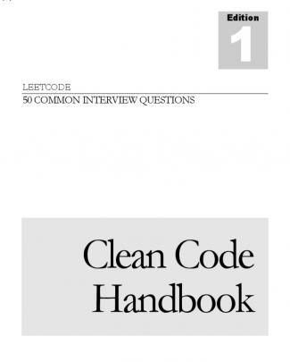 Cleancodehandbook V1.0.1