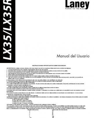 Manual Laney Lx35-lx35r