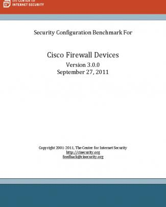 Cis Cisco Firewall Benchmark V3.0.0