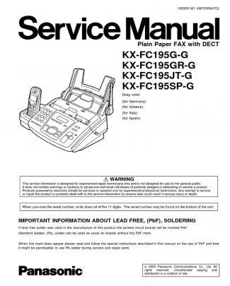 Plain Paper Fax With Dect Kx-fc195 Panasonic Sm
