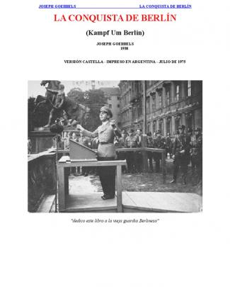 Goebbels - La Conquista De Berlin [doc]