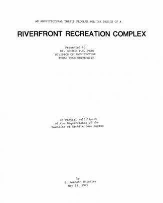 Riverfront Recreation Complex
