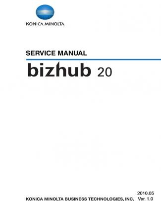 Bizhub 20 Service Manual