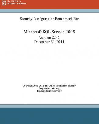 Cis Microsoft Sql Server 2005 Benchmark V2.0.0