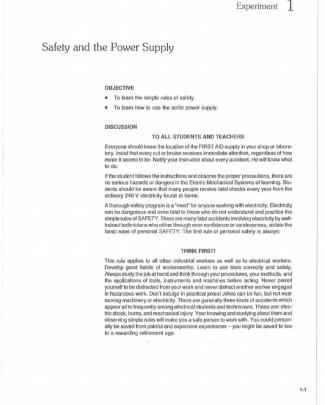 Lab 1 Handout Electrical Machines