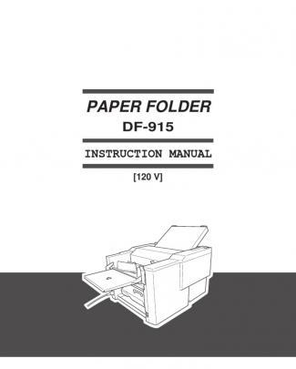 Duplo Df-915 Instruction Manual
