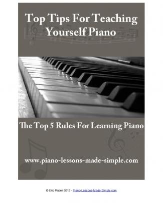 Top Tips For Teaching Yourself Piano