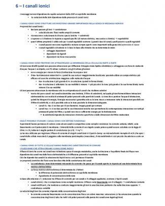 """Fisiologia - Riassunti Kandel """"principi Di Neuroscienze"""" Cap. 6-15"""