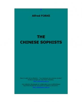 Forke - The Chinese Sophists