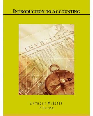 Introduction To Accounting - 1st Edition - Anthony Webster