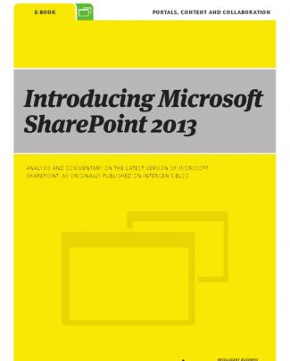 Introducing Microsoft Sharepoint 2013