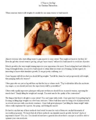 Christian Thibaudeau - 3 Ways To Get Big!