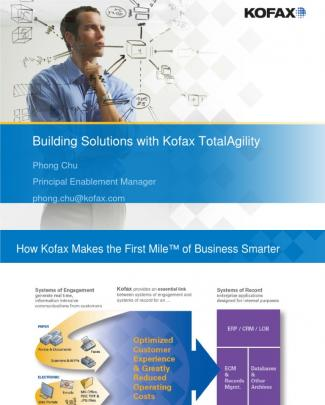 Building Solutions With Kofax Totalagility
