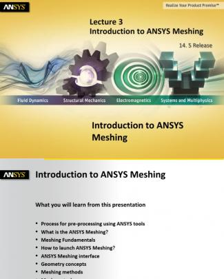 Mesh-intro 14.5 L03 Introduction To Ansys Meshing