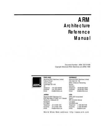 Arm - Architecture Reference Manual - Arm Ddi 0100b