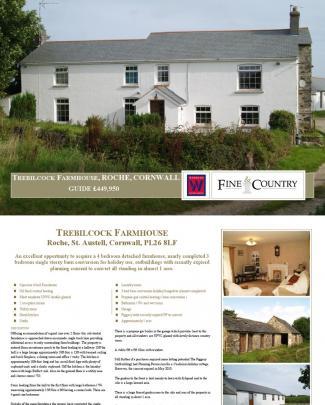 Trebilcock Farmhouse, Roche, Cornwall