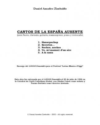 Cantos De La España Ausente (daniel Amadeo Zimbaldo) Copy