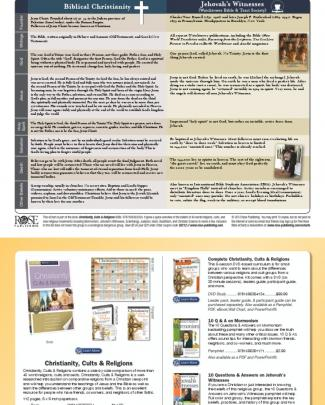 Christianity And Jehovah's Witnesses - Chart