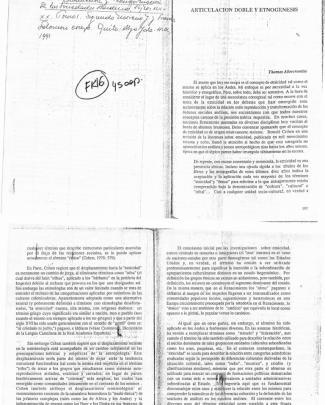 """""""articulación Doble Y Etnogenesis. En Moreno, S. Y Frank S. Reproducción Y Transformación De Las Sociedades Andinas"""""""