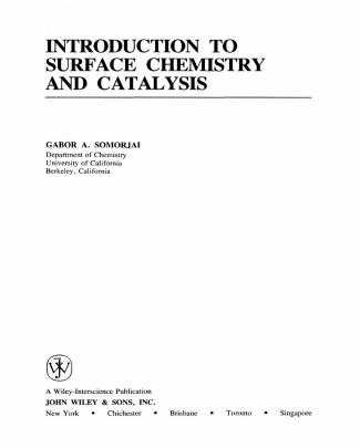 Introduction Of Surface Chemistry And Catalysis