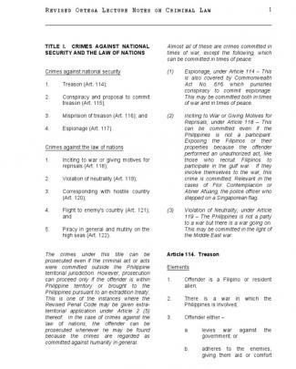 Revised Ortega Lecture Notes Ii