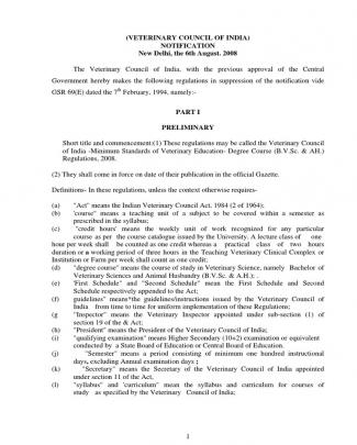 Vci  Msve 2008 Regulations
