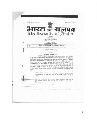 Notified Draft Coal Mines Regulation 2011