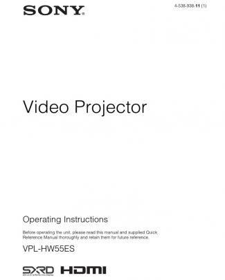 Sony Vpl-hw55 Projector
