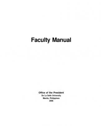 Dlsu Faculty Manual 2008