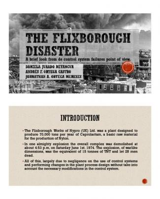 The Flixborough Disaster.