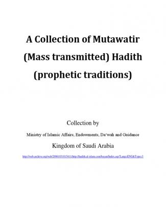 A Collection Of Mutawatir Hadith