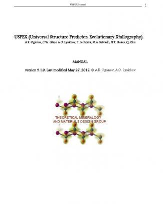 Uspex Manual 9.1.0 Release
