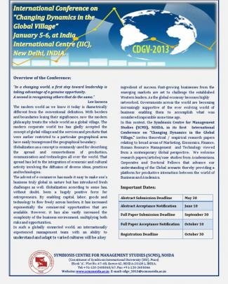 International Conference Brochure Cdgv-2013 (1)