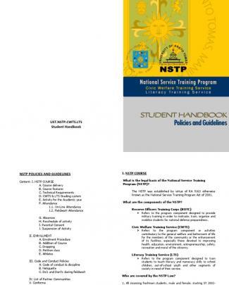 Ust Nstp Cwts And Lts Handbook
