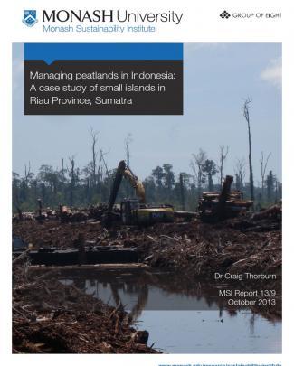 Managing Peatlands In Indonesia: A Case Study Of Small Islands In Riau Province, Sumatra