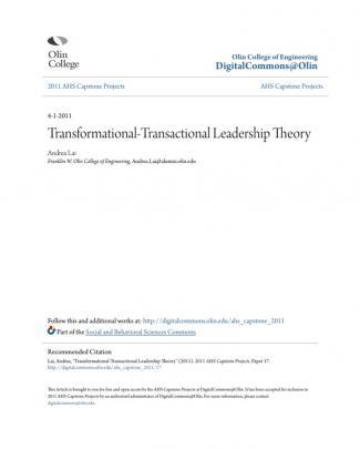 Transformational-transactional Leadership Theory